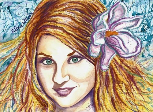 "Watercolor Portrait of Tatsiana ""Tanya"" Khvitsko"