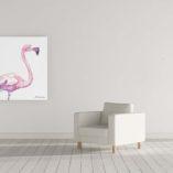 Watercolor Flamingo II
